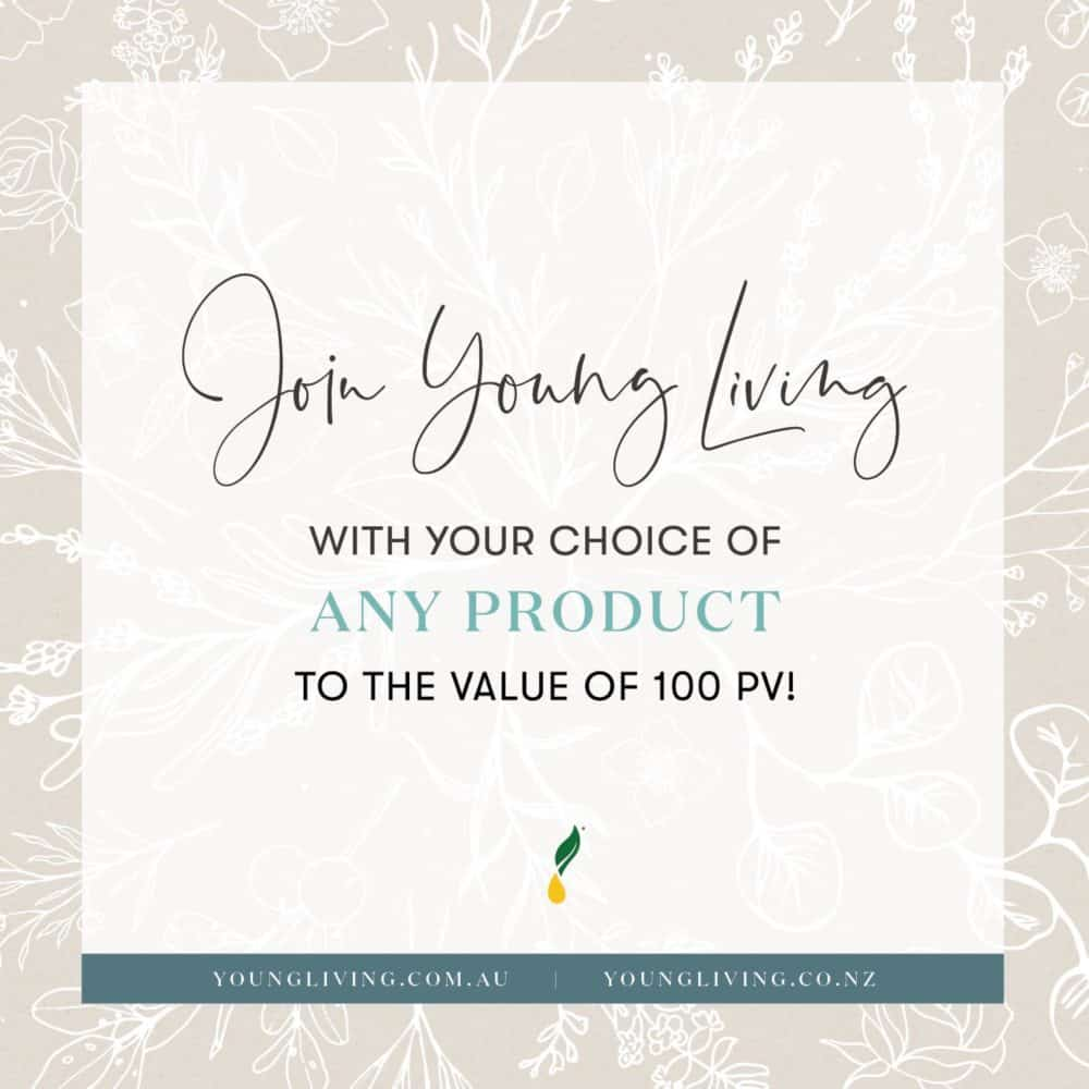 Join Young Living with any YL Product to the value of 100PV